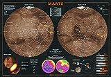 Mappa Dettagliata di Marte - Poster