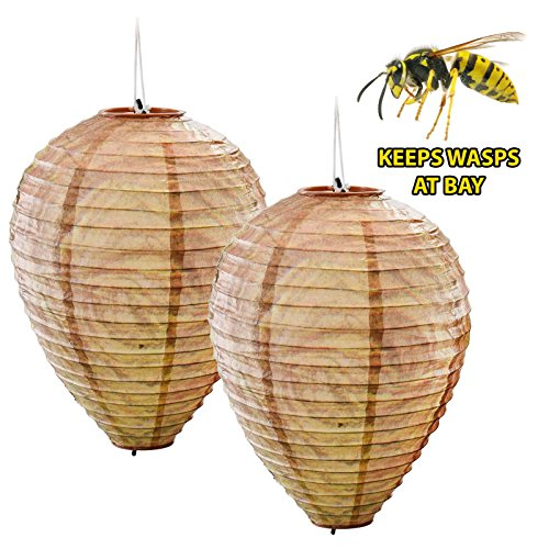 2-x-decoy-paper-anti-wasp-nest-simulated-deterrent-hanging-territorial-insect-protection-scare-wasps