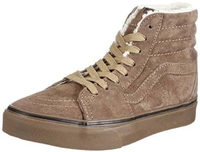 Vans Sk8-Hi VKYAL7Z, Unisex - Erwachsene Klassische Sneakers, Braun ((Fleece) teak/dark gum), EU 35 (US 4)