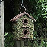 SHINE TWO STOREY BUSH WOOD NESTING BOX, WITH HOOK...