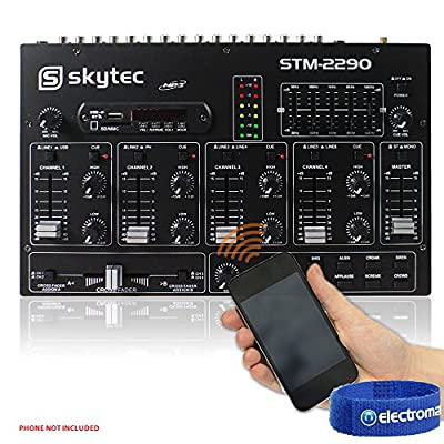 STM2290 Sound Effects Bluetooth Wireless Audio DJ PA Mixer 8-Channel SD USB MP3