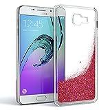 EAZY CASE GmbH Hülle für Samsung Galaxy A5 (2016) Schutzhülle mit Flüssig-Glitzer, Handyhülle, Schutzhülle, Back Cover mit Glitter Flüssigkeit, aus TPU/Silikon, Transparent/Durchsichtig, Rosa