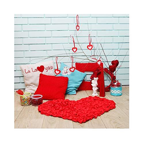 Yongfoto 2,2x1,5m vinile fondale foto cuscini cuore rosso cuscini muro di mattoni pavimento in legno sfondo di nozze fotografico fotografia sfondi per foto partito studio puntelli