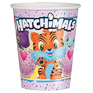Unique Party 59306 hatchimals vaso de papel, 9 oz