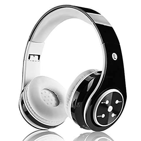 Bluetooth headphones wireless On ear stereo headphones with rechargeable battery