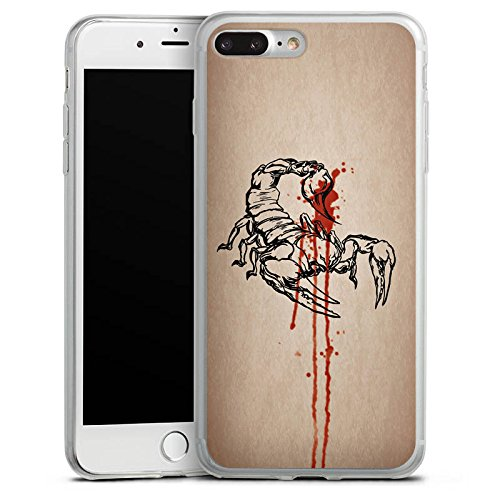 Apple iPhone 8 Slim Case Silikon Hülle Schutzhülle Skorpion Halloween Gift Silikon Slim Case transparent