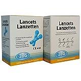 Home Health UK - Lancette pungidito per diabetici, 28G, 100 pezzi - SÌ - ho una malattia connessa disabilità