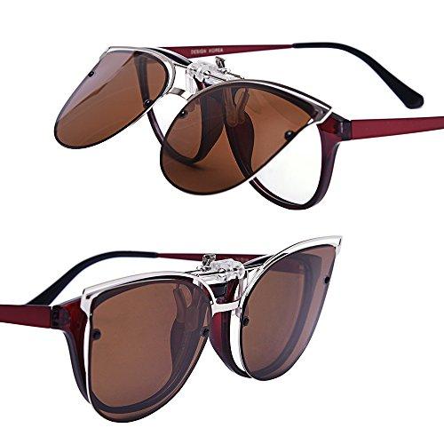 design innovativo 4d9f8 9c1a2 TERAISE Occhiali da sole Clip-on da donna per occhiali da ...