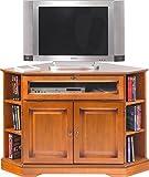 ACTUAL DIFFUSION 6751 Alsace Meuble TV d'angle avec 2 Portes/Abattant Bois 77,5 x 114 x 77 cm