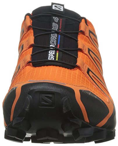 Salomon Herren Speedcross 4 Traillaufschuhe Orange (Flame/black/red Dalhia)