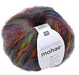 Rico essentials mohair Wolle Fb. 10-50g Wolle mit Mohair, Mohairwolle bunt zum Stricken und Häkeln, Mohairgarn