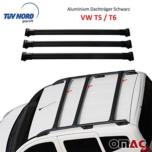 VW T5 / T6 Caravelle Multivan mit TÜV / ABE Alu 3-tlg Dachträger Gepäckträger