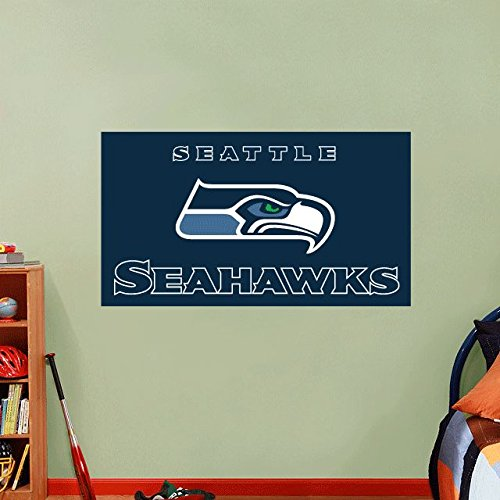 lunaprint Seattle Seahawks NFL Football Home Decor Art Wall Vinyl Sticker 63 x 33 cm