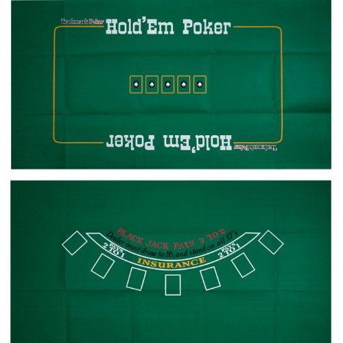 Trademark Poker Blackjack und Texas Hold 'em beidseitig Layout 91,4cm x 183cm