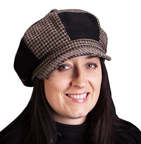 Rothney by Galeja Damen Schirmmütze in Brown-Russet One Size 55-57 gewachst, wasserabweisend Ballonmütze mit Fleecefutter (Fedora-hut Angora)