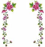#7: Decals Design 'Pink Flower Vines' Wall Sticker (PVC Vinyl, 70 cm x 25cm)