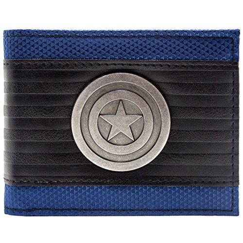 Marvel Captain America Symbol Mehrfarbig Portemonnaie Geldbörse (Der Winter Soldier Cosplay Kostüm)