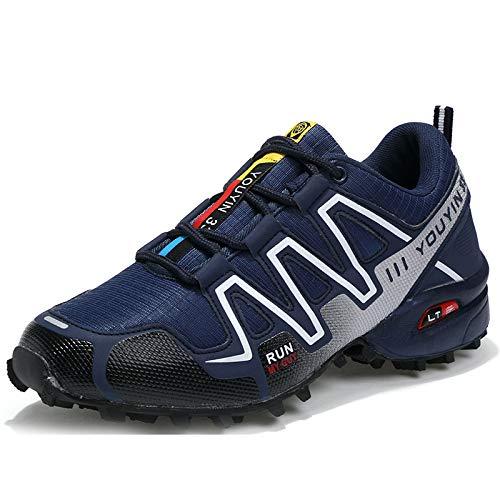 Scarpe da Trail Running da Uomo Scarpe da Corsa da Uomo Stivali da Trekking per Donna seniorverde45 Blu Scuro 47