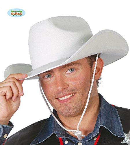 Guirca Fiestas GUI13521 - Weisser Filz Cowboy-Hut (Weißer Filz Cowboy Hut Kostüm)
