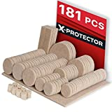 Felt Pads X-Protector – Premium Furniture Pads Floor Protectors 181 pcs Ultra Large