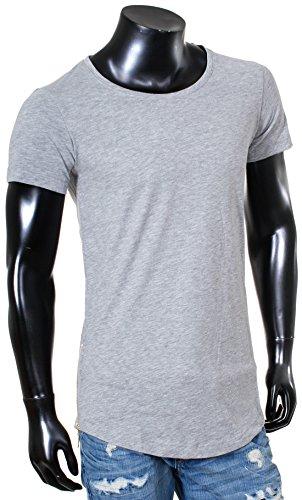 Redbridge Herren Jungen T-Shirt Zipper Oversized kurzarm Rundhals RB-41289 Grau