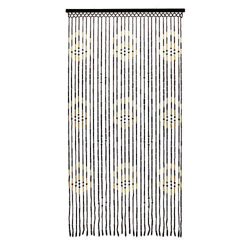 JVL Provence zum Aufhängen Holz Perlen Tür Pfeile Vorhang Bildschirm, Mehrfarbig, 90x 180cm -