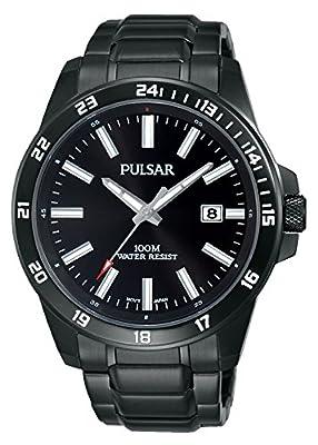 Pulsar Reloj Unisex de Analogico con Correa en Chapado en Acero Inoxidable PS9461X1