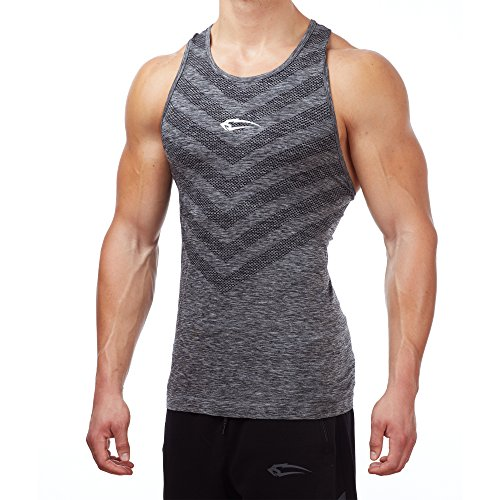 SMILODOX Tank Top Herren | Seamless - Muskelshirt mit Aufdruck für Sport Gym Fitness & Bodybuilding | Muscle Shirt - Unterhemd - Achselshirt Trainingshirt Kurzarm, Farbe:Schwarz, Größe:XL (Workout-muskel-t-shirt)