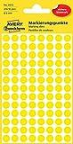 Avery Zweckform 3013 Markierungspunkte (416 Stück, Ø 8 mm) 4 Blatt gelb