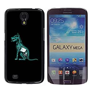 Omega Covers - Snap on Hard Back Case Cover Shell FOR SAMSUNG GALAXY MEGA 6.3 - Dog Ate Homework X Ray Funny