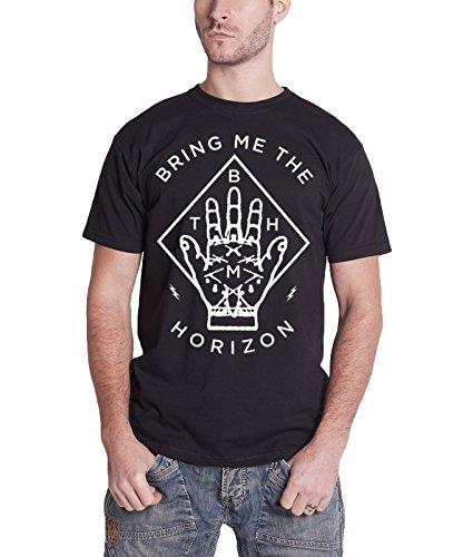Bring Me The Horizon Diamond Hand Oficial de los hombres nuevo negro T Shirt