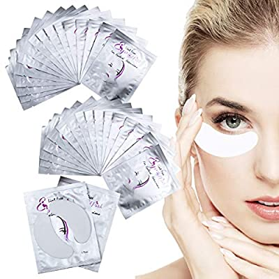 Under Eye Gel Pads 50 Pairs Gel Eye Pads for Lash Eyelash Extensions Lint Free Eye Patches