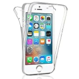 COPHONE Coque Compatible iPhone 5c Intégrale et Transparente. Coque Silicone 360...