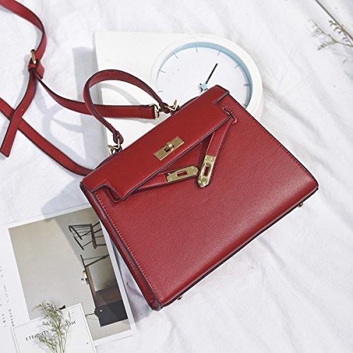 Weibliche handtasche farbe nagel Kette umschlag tasche Schulter messenger bag Rot
