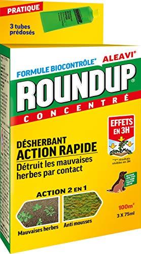 roundup diserbante versatile rapido tubi pre-dosati, x3