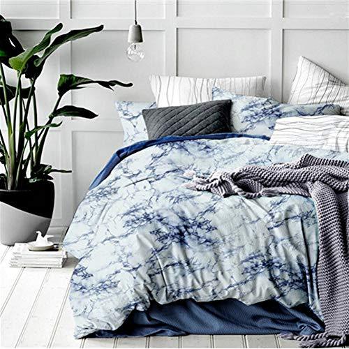 JWANS Bettbezug Marmor gedruckt Bettwäschesatz Queen Size Bettbezüge Kissenbezug Tagesdecke Bedrucktes Muster Bettwäsche