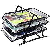 #10: Absales Office Desktop 3 Tier Letter Tray Organizer - Desk File Paper Document Inbox Outbox -
