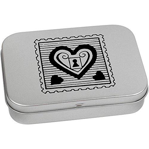 Azeeda 110mm x 80mm 'Sello Candado Corazón' Caja