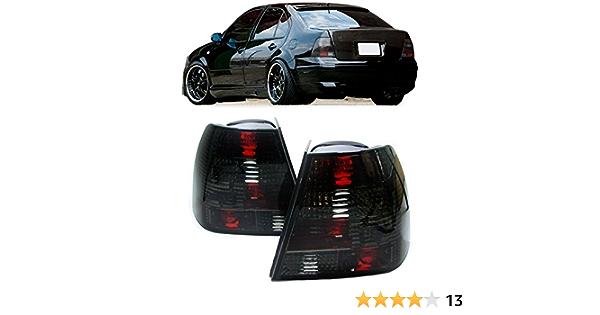 Carparts Online 12876 Klarglas Rückleuchten Schwarz Kristall Auto