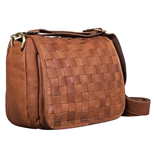 6f7e001c1fb37 STILORD 'Mia' Kleine Leder Damen Handtasche Umhängetasche Vintage  Schultertasche zum Ausgehen ...