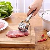 LQZ(TM) Fleischklopfer Fleischzartmacher Fleischsteaker Steaker für Fleisch aus Edelstahl 21.3x4cm