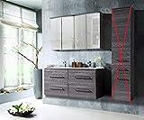 Badmöbel Set 'COSMO 120 cm' Badezimmer mit Doppelwaschbecken Badezimmermöbel LED ohne Hochschrank