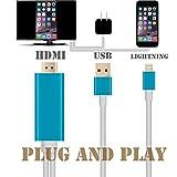 Upgraded enchufe y jugar adaptador Lightning a HDMI, Kupx 6pies de alto grado iphone 77Plus 55