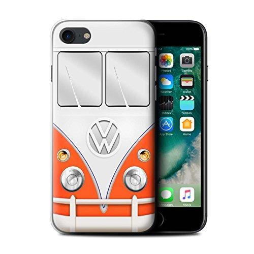 Stuff4 Hülle / Case für Apple iPhone 7 / Rot Muster / VW Campingbus Kollektion Rot