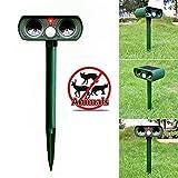 Generic Green Garden Cat Dog Pest Repeller Solar Power Ultra Sonic Scarer Frighten