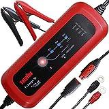 Telwin 807567 T-Charge 12 Caricabatterie e Mantenitore Elettronico 6/12V, Rosso