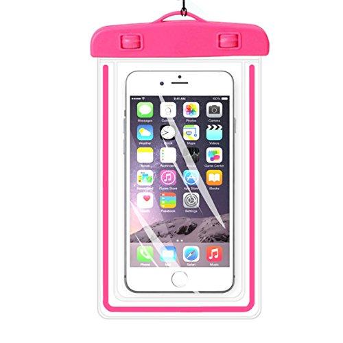 Universal Wasserdichte Schutzhülle, ibarbe Handy Dry Bag Pouch für iPhone 76S 6Plus SE 5S 5C 5, Galaxy S8S7S6Edge, Note 54, LG G6G5, HTC 10, Sony Nokia, diagonal Geräte bis 14,5cm -