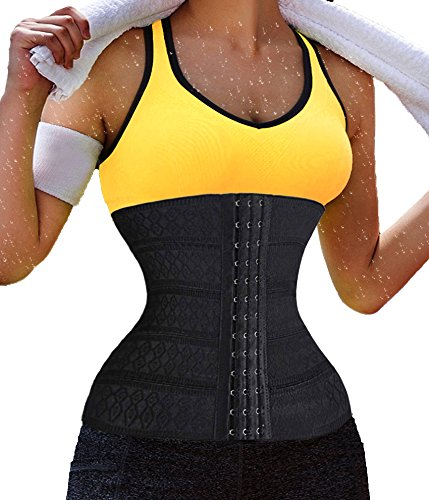 Damen Training Sport Unterbrust Korsett Cincher Control Körper Shaper Unterbrust Black (Local Seller)