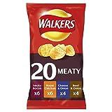 Walkers Meaty Crisps, 25 g, Pack of 20