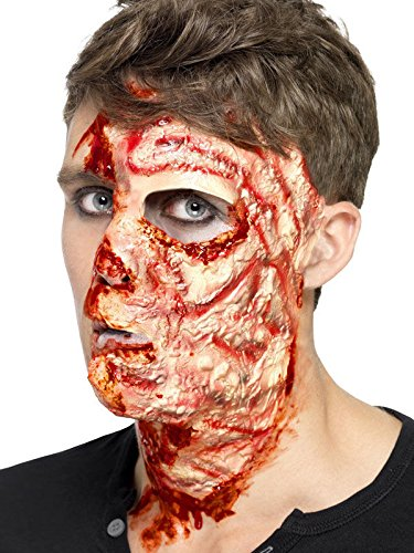 Verbranntes Gesicht Narben Halloween Latex Applikation haut rot